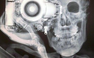 xray, xray camera and head by Nick Veasey, cool xray bro