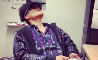 Sebastian Seung in Oculus rift