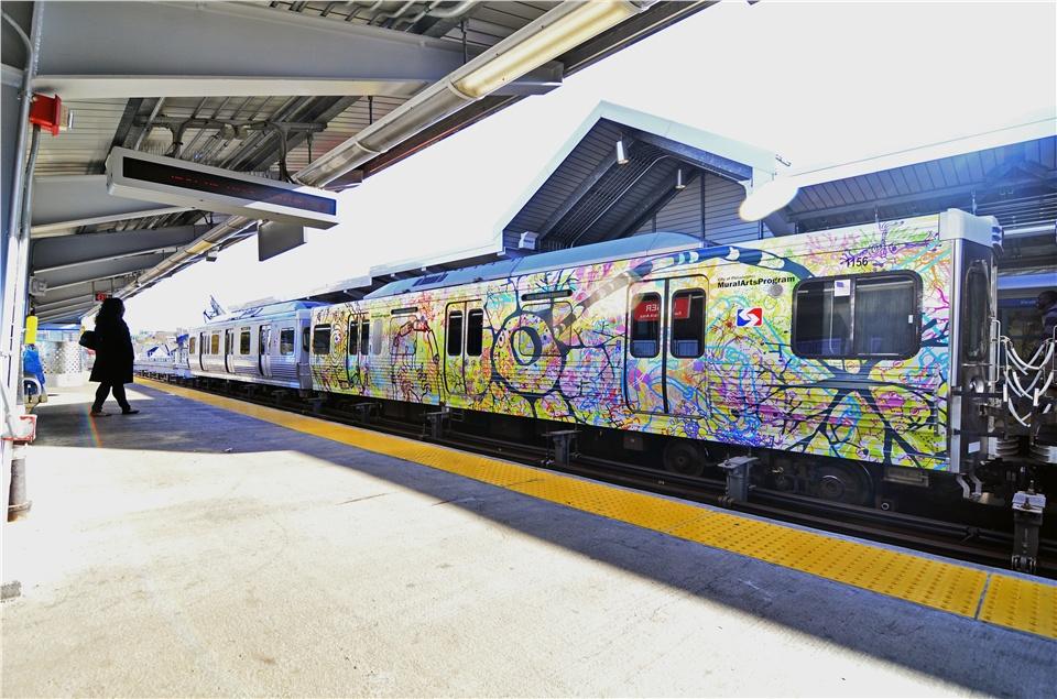 EyeWire Inspired Subway Train Art