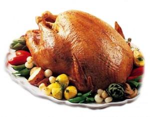 Thanksgiving Food Fight Turkey vs Mashed Potatoes vs Cranberry