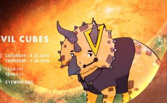evil cubes, triceratops